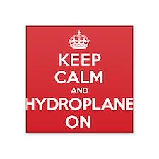"Keep Calm Hydroplane Square Sticker 3"" x 3"""