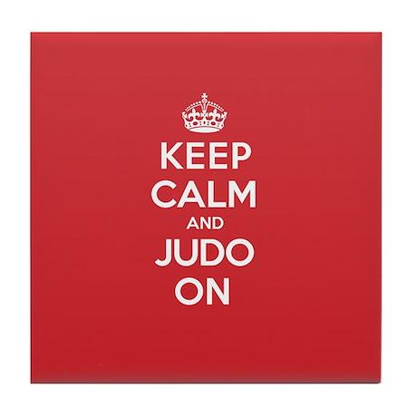 Keep Calm Judo Tile Coaster