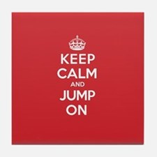Keep Calm Jump Tile Coaster