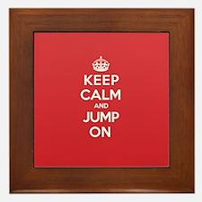 Keep Calm Jump Framed Tile