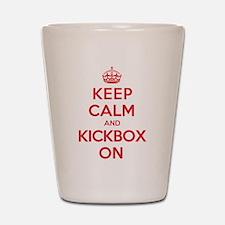 Keep Calm Kickbox Shot Glass