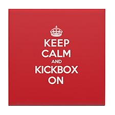 Keep Calm Kickbox Tile Coaster