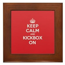 Keep Calm Kickbox Framed Tile