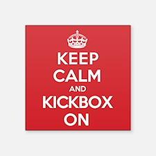 "Keep Calm Kickbox Square Sticker 3"" x 3"""