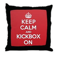 Keep Calm Kickbox Throw Pillow