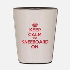 Keep Calm Kneeboard Shot Glass