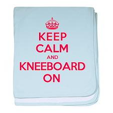Keep Calm Kneeboard baby blanket