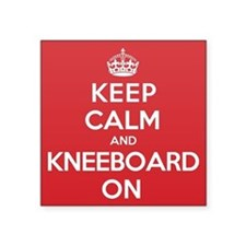 "Keep Calm Kneeboard Square Sticker 3"" x 3"""