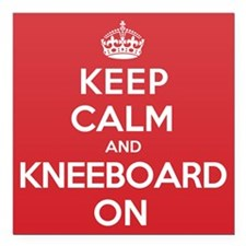"Keep Calm Kneeboard Square Car Magnet 3"" x 3"""