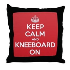 Keep Calm Kneeboard Throw Pillow