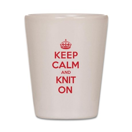 Keep Calm Knit Shot Glass