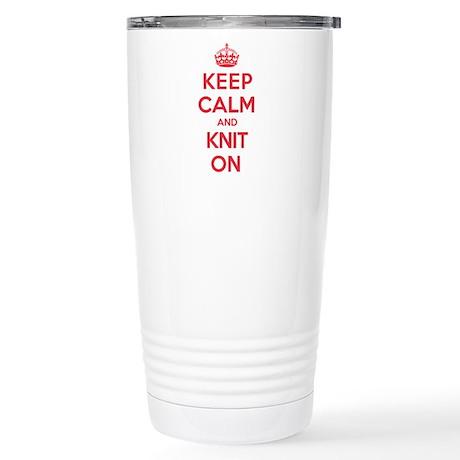 Keep Calm Knit Stainless Steel Travel Mug