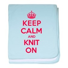 Keep Calm Knit baby blanket