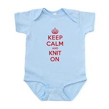Keep Calm Knit Infant Bodysuit