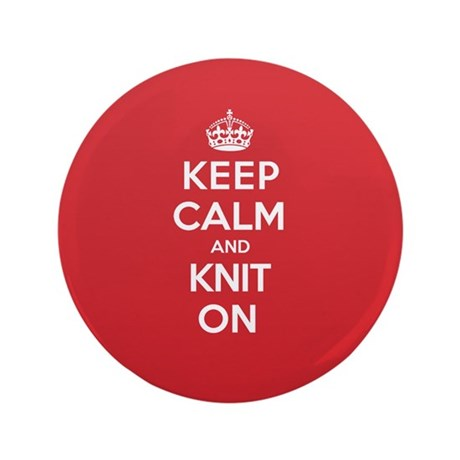 "Keep Calm Knit 3.5"" Button (100 pack)"