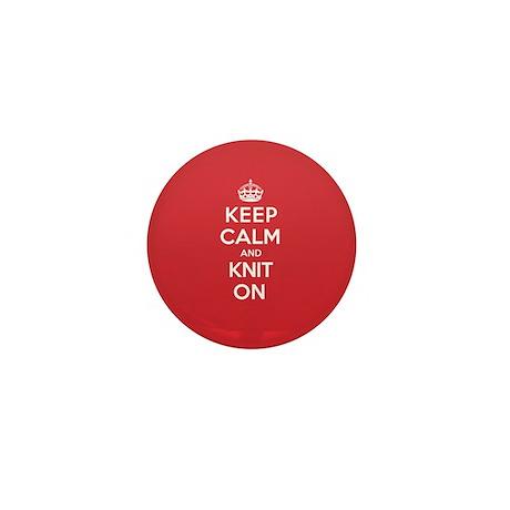 Keep Calm Knit Mini Button (10 pack)