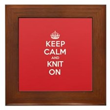 Keep Calm Knit Framed Tile