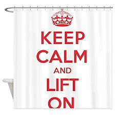 Keep Calm Lift Shower Curtain