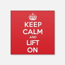 "Keep Calm Lift Square Sticker 3"" x 3"""