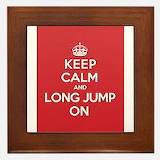 Keep Calm Long Jump Framed Tile