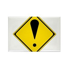 Exclamation Point Rectangle Magnet (10 pack)