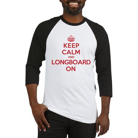 Keep Calm Longboard Baseball Jersey