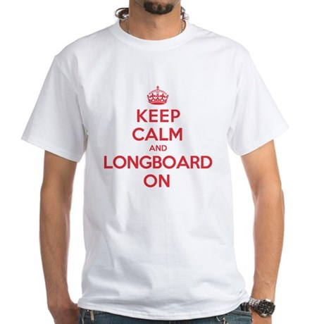 Keep Calm Longboard White T-Shirt