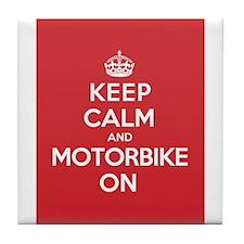 Keep Calm Motorbike Tile Coaster