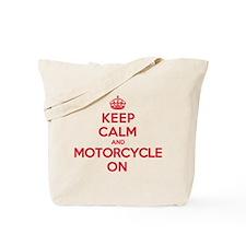 Keep Calm Motorcycle Tote Bag