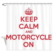 Keep Calm Motorcycle Shower Curtain