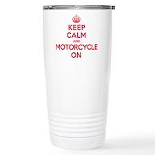 Keep Calm Motorcycle Travel Mug