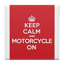 Keep Calm Motorcycle Tile Coaster
