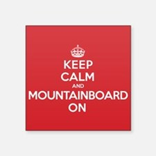 "Keep Calm Mountainboard Square Sticker 3"" x 3"""