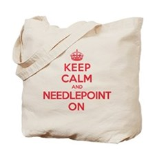 Keep Calm Needlepoint Tote Bag
