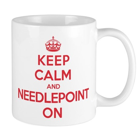 Keep Calm Needlepoint Mug