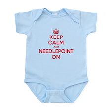Keep Calm Needlepoint Infant Bodysuit