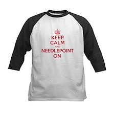 Keep Calm Needlepoint Tee