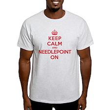 Keep Calm Needlepoint T-Shirt