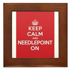 Keep Calm Needlepoint Framed Tile