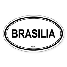 Brasilia, Brazil euro Oval Decal