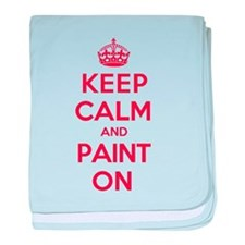 Keep Calm Paint baby blanket