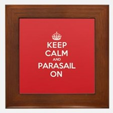 Keep Calm Parasail Framed Tile