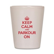 Keep Calm Parkour Shot Glass