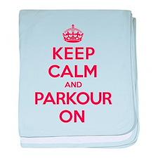 Keep Calm Parkour baby blanket
