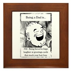 Feign Laughter Dad Framed Tile