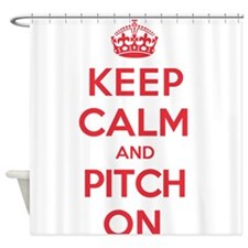 Keep Calm Pitch Shower Curtain