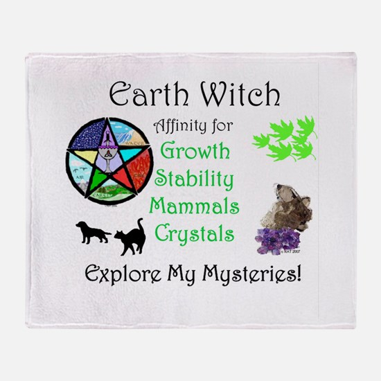 Earth Witch.jpg Throw Blanket