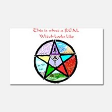 Elemental Pentagram shirt.jpg Car Magnet 20 x 12
