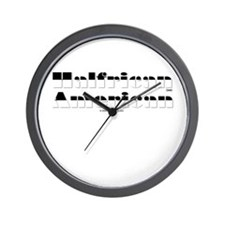 Half White/Half Black Wall Clock