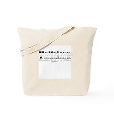 Half White/Half Black Tote Bag